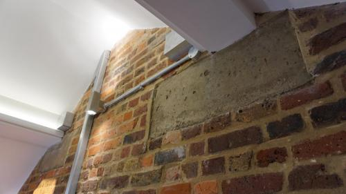 loft conversion exposed brick wall