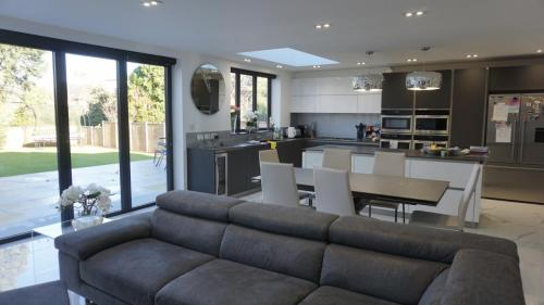 Bright extension with open plan feel