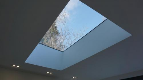 Flat roof light over kichen extension