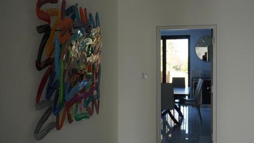 Hallway with wallart