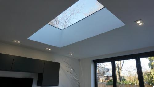Modern extension with flat roof