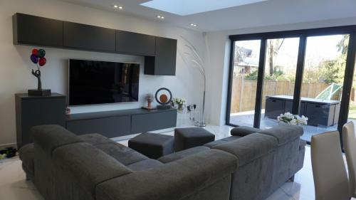 Seating area in extension