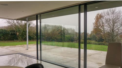 large sliding doors on extension