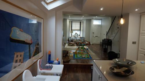 open plan kitchen in hammersmith