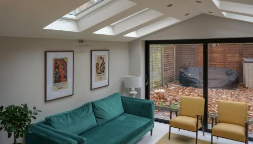 pirch roof extension with roof lights